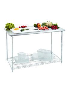 Bartscher Werktafel met RVS Blad en 1 Schap | B 1.200 x D 600 x H 900 mm