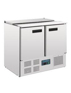 Polar G-serie Gekoelde Saladette met 2 Deuren 240 Liter | +2°C tot +8°C | 88.5Hx90x70cm.