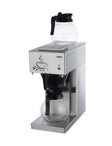 Saro Koffiezetapparaat met 2x glazen kan à 1,8 Liter   20x38x43cm