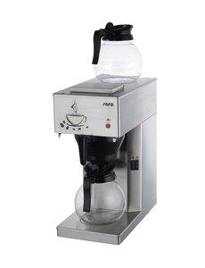 Saro Koffiezetapparaat met 2x Glazen Kan   RVS   2x 1,8 Liter   20x38x43cm