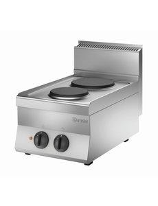 Bartscher Elektrisch Kooktoestel | Bartscher 2-pits | 400V | 40x65x(H)29,5cm