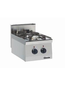 Bartscher Gasfornuis met 2 pitten | 9.5kW Gas |  B400xD600xH290 mm.