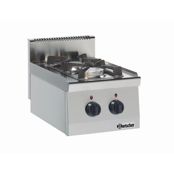 Bartscher Bartscher Gaskooktoestel met 2 Branders   9.5kW    B400xD600xH290 mm.