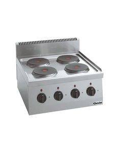 Bartscher Elektrisch Kooktoestel | Bartscher 4-pits | 400V | 60x60x(H)29cm