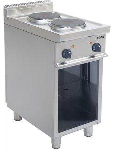 Saro Elektrisch Kooktoestel met 2 Pitten   400V/5.2kW   40x70x(H)85cm
