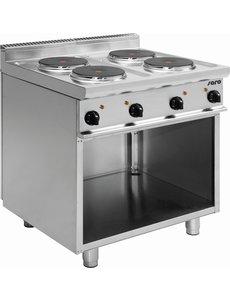 Saro Elektrisch Kooktoestel met 4 Pitten   400V/10,4kW   80x70x(H)85cm