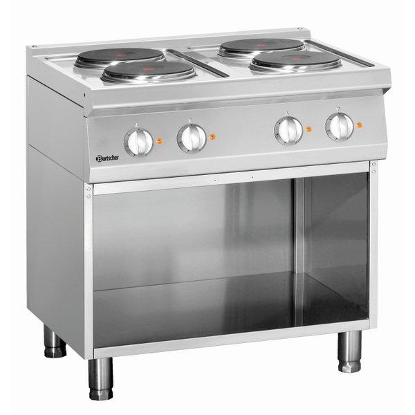 Bartscher Elektrisch Kooktoestel   Bartscher 4-pits   Met onderbouw   10,4 kW   80x70x(H)85cm