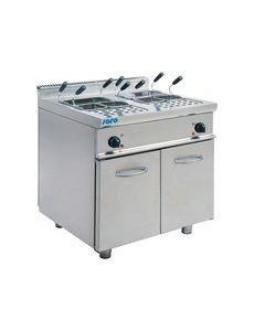 Saro Elektrische Pastakoker | 2x 28 Liter | 400V/14kW | 80x70x(H)85cm