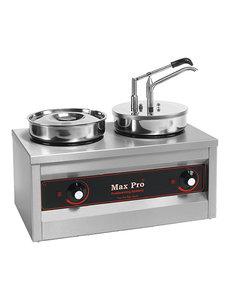 Max-Pro Sauzenwarmer met Dispenser   2x 4,5 liter   500Watt   43(H)x26x50cm