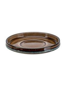 Cosy & Trendy Quintana Amber | Espresso schotel | ∅12cm | Per 6 stuks