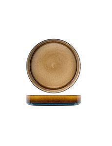 Cosy & Trendy Quintana Amber | Diep Bord | Ø23x(H)4,3cm | Per 3 stuks