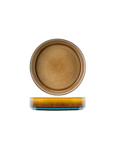 Cosy & Trendy Quintana Amber | Diep Bord | Ø19,5x(H)5,2cm | Verpakt per 3 stuks