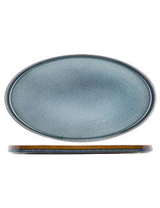 Cosy & Trendy Quintana Blue Plat Bord | Ovaal | 35,5x23,5cm | Per 2 stuks