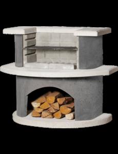 Buschbeck Grillbar Luzern beton | 110x65x(H)93cm