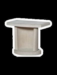 Buschbeck Bijzettafel beton wit | 70x40x(H)55cm