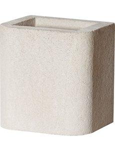 Buschbeck Opzetstuk schoorsteen wit beton | 34x34cm