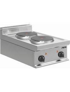 Saro Elektrisch Kooktoestel met 2 Pitten   400V/5,2kW   40x70x(H)27cm