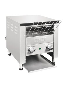 Buffalo Conveyor Toaster | Dubbel | 400 sneetjes per uur | 37x75x(H)38cm