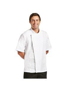 Chef Works Koksbuis Korte Mouw | Chef Works Springfield Urban  met rits | Unisex | Wit