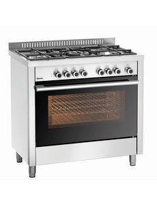 Bartscher Gasfornuis met 5 BrandersElektrische oven met grill