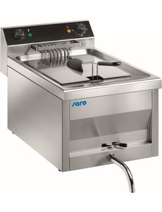 Saro Gastroline Friteuse met Aftapkraan | 9 Liter | 400V | 6kW | 300x545x(H)410mm