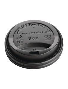 Fiesta Green Deksel voor 23cl koffiebekers | Zwart | Composteerbaar | 50 stuks