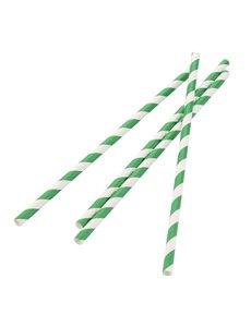 Fiesta Green Papieren Rietjes | 100% afbreekbaar | 21cm | Per 250 stuks