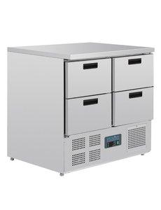 Polar G-serie Koelwerkbank met 4 laden 240 Liter | +2°C tot +5°C | 88Hx90x70cm.