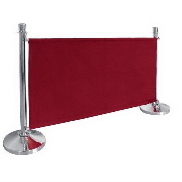 Bolero Afzetdoeken voor Afzetpalen | Rood Canvas Afzetdoek | 70 x 143 cm.