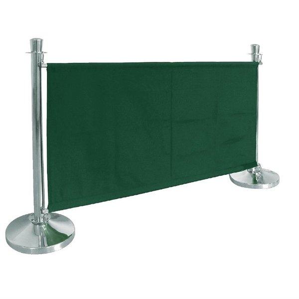 Bolero Afzetdoeken Bolero voor Afzetpalen | Groen Canvas Afzetdoek | 70 x 143 cm.