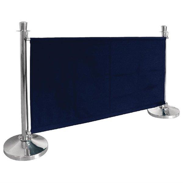 Bolero Afzetdoeken voor Afzetpalen | Donkerblauw Canvas Afzetdoek | 70 x 143 cm.