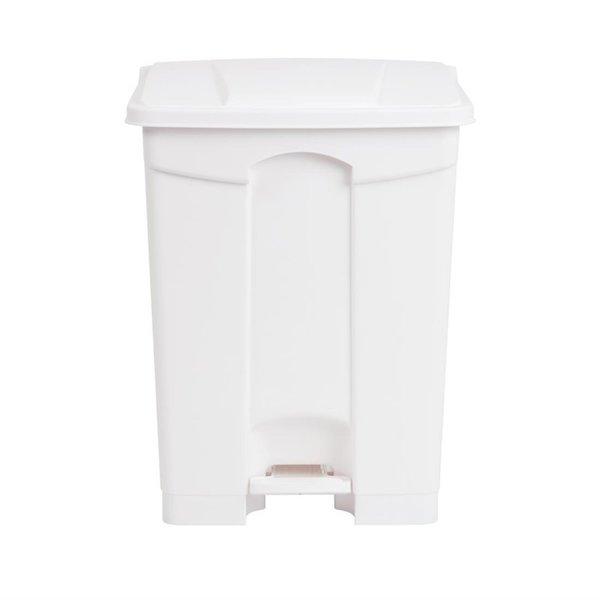 Jantex Jantex Afvalcontainer met pedaal wit  65 Liter |  50x40xH67cm.