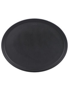 Cambro Dienblad Ovaal XL Zwart | Anti-slip | 68,5x56cm