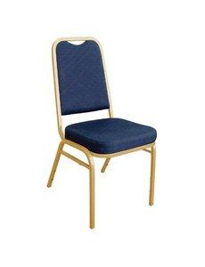 Bolero Banketstoel met vierkante rugleuning | Blauw | Zithoogte: 46cm | Set van 4