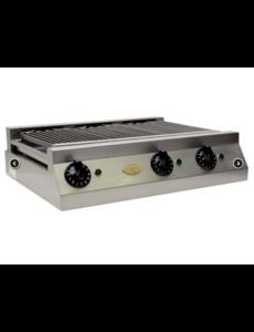 Rosval Watergrill met 3 Elementen | Stand Alone | 400V - 7500W | RWG66  | Bak opp. 530x505 mm.