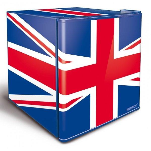 Husky Unieke Mini Koelkast Union Flag   42,9 Liter   40 blikjes   43x46x(H)51cm