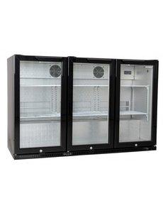 Husky Display Koelkast Backbar | 3 deuren | 301 Liter | 135x52x(H)87cm