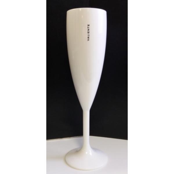 Valiente Champagne Flute Kunststof Wit | Per 6 stuks
