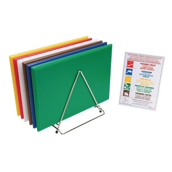 Hygiplas Snijplanken Set van 6 stuks | Kleurcodekaart en Rek  | 455x305x(H)25 mm
