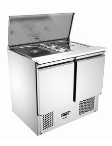 Bartscher Saladette met 2 Deuren | 260 Liter | 2 x 1/1 GN + 3 x 1/6 GN  |  0 °C tot 10 °C | B900 x D700 x H870 mm.