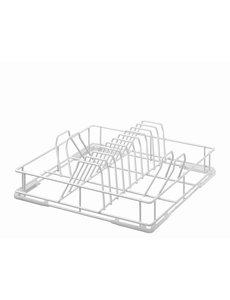 Bartscher Bordenkorf Wit | 400x400x120 mm | Geschikt voor Borden