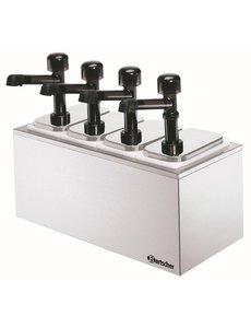 Bartscher Sausdispenser Pompstation met 4 Pompen   4x 3.3 Liter
