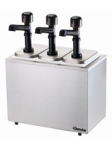 Bartscher Sausdispenser Pompstation met 3 Pompen   3x 3.3 Liter