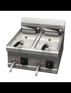 Gastro-Inox Friteuse Elektrisch Trendline 600 | 2x 10 Liter | 400V / 18kW |   600(b)x600(d)x455(h)mm