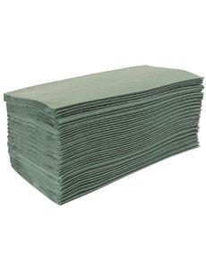 Jantex Handdoeken 1-laags Groen | Z-Gevouwen | 15x 200 Vellen | 24(b)x8.5(d)cm