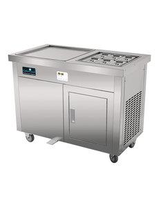 CaterCool IJs Teppanyaki met Onderkast | 6x 1/9 GN | IJsproductie 25-50 kilo/uur |230V/1500W | 80(H)x107x60cm