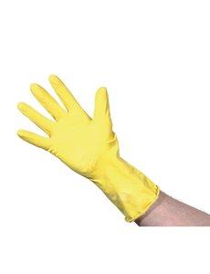 Jantex Huishoudhandschoen lichtgewicht rubber geel | Keuze uit 3