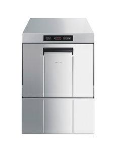 SMEG Ecoline Vaatwasmachine Voorlader met Waterontharder | Zeepdispenser en Naglanspomp | 230/400V | Korven 50x50 cm.