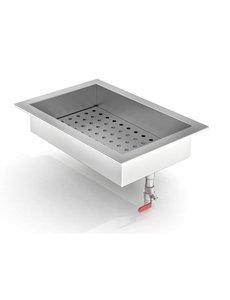 Combisteel Crushed Ice Inbouw Bak | Inhoud GN1/1 | B402xD590xH170 mm.