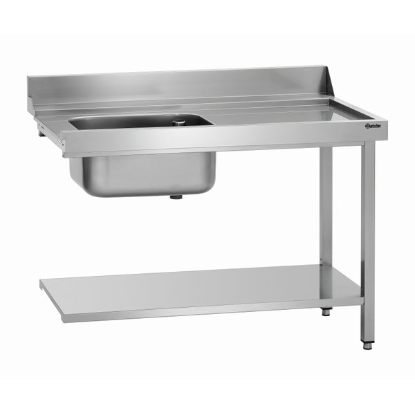 Bartscher Bartscher Aanvoertafel met Spoelbak Links | B 1.200 x D 720 x H 850 mm